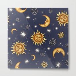 Vintage Celestial Mood Metal Print