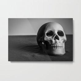 Hamlet Skull Metal Print