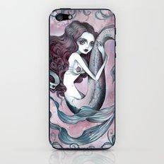 Mermaid hearts (pink and teal) iPhone & iPod Skin
