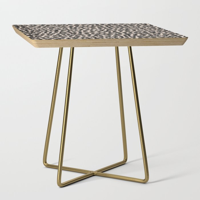 Tan Leopard Side Table