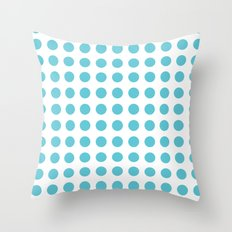 Simply Polka Dots in Seaside Blue Throw Pillow