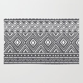 African Mud Cloth // Charcoal Rug