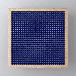 Patterned Sunrise in Blue! Framed Mini Art Print
