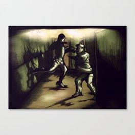 Daredevil Hallway Fight Scene Canvas Print