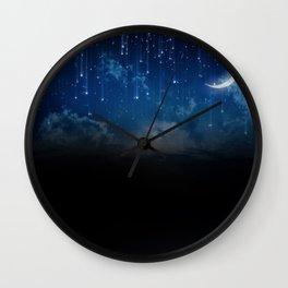 Summer night sky Wall Clock