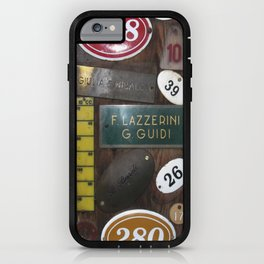 Italien Name Plates 2 iPhone Case