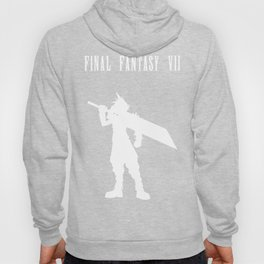 Cloud Strife Silhouette Minimal (White) - Final Fantasy VII Hoody