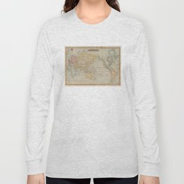 Vintage Map of The World (1823) Long Sleeve T-shirt