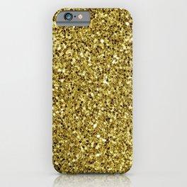 Festive Gold Glitter iPhone Case