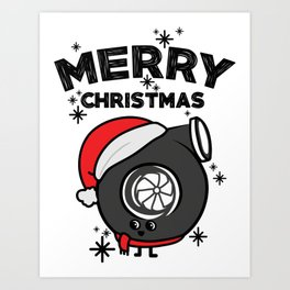 Christmas turbo Art Print