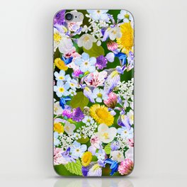 Flower mess iPhone Skin