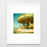 carousel Framed Art Prints featuring Carousel by Cassia Beck