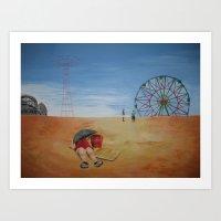 Coney Island Sunbath Art Print