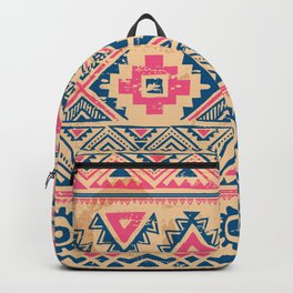 Vintage tribal ethnic hand drawn illustration pastel pink abstract geometric pattern Backpack