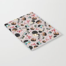 Pop Cats - Pattern French Gray Grey Notebook