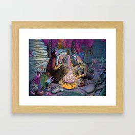 Talitha and Nihal Framed Art Print