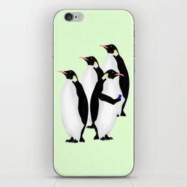 Penguin On A Mobile Device iPhone Skin