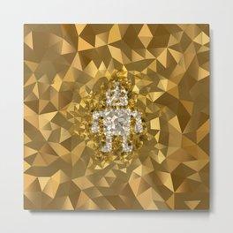 POLYNOID Robot / Gold Edition Metal Print