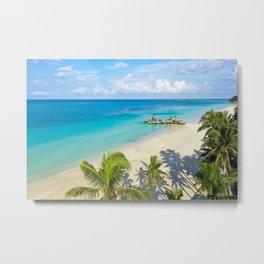 White Beach Morning, Boracay Island Metal Print