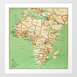 Map of Africa (1966) Art Print