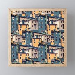 Night Castles (Pattern) Framed Mini Art Print