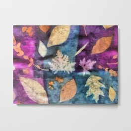 Colorful fallen leaves abstract Metal Print