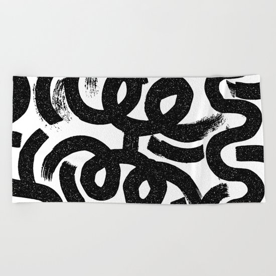 Big Strokes Beach Towel