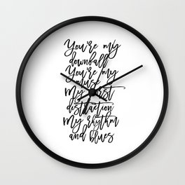 Love Sign,I Love You,Gift For Her,Wall Art,Gift For Him,Song Lyrics,Quote Prints,Husband Gift Wall Clock