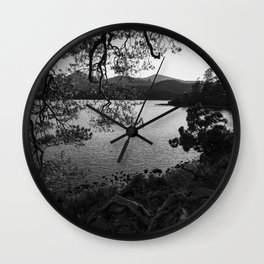derwentwater through the trees from friars crag Wall Clock