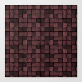 Wood Blocks-Oxblood Canvas Print