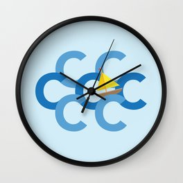 Sail The Seven Cs Wall Clock