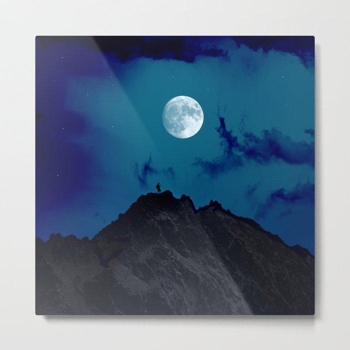 night on the mountain Metal Print