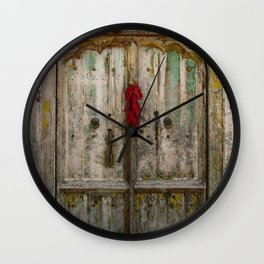 Old Ristra Door Wall Clock