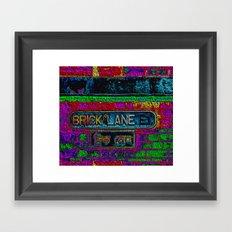 Brick Lane, Black Velvet Framed Art Print
