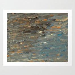 Sunset Pool Reflection Art Print