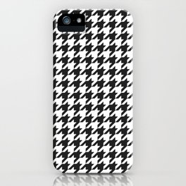 Black and white houndstooth pattern iPhone Case