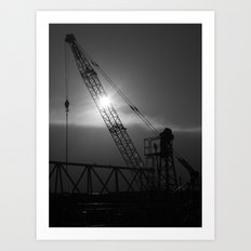 crane spotting... Art Print
