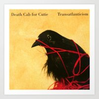 death cab for cutie Art Prints featuring Death Cab For Cutie - Transatlanticism by NICEALB