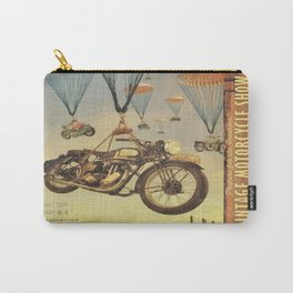 Vintage Motorcycle Show Poster Carry-All Pouch