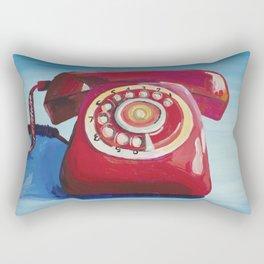 Retro Red Phone Rectangular Pillow