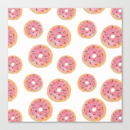 Watercolor Donut Canvas Print