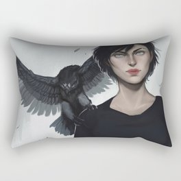 Two Hawks Rectangular Pillow