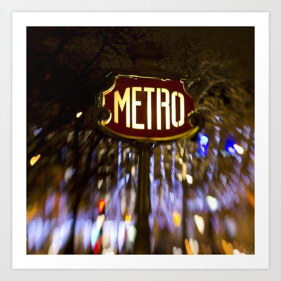 Metro Love Art Print