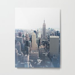 New York City and the Empire State Building Metal Print
