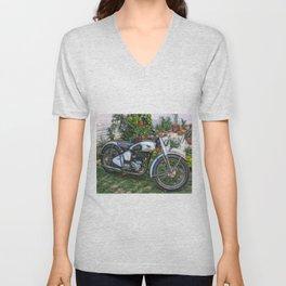 Vintage Classic British Motorbike Unisex V-Neck