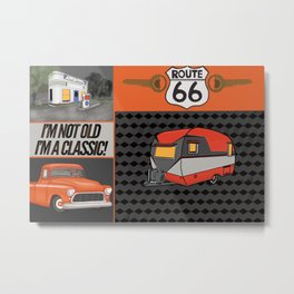Route 66 Classic Living Metal Print