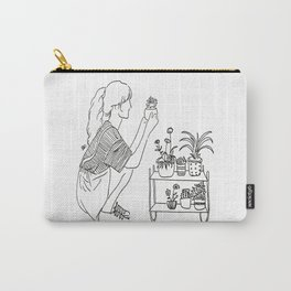 crazy plant girl Carry-All Pouch