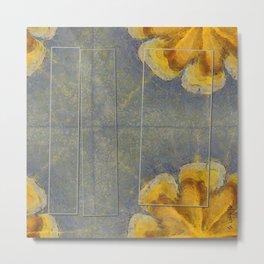 Unworminess Design Flowers  ID:16165-110353-84671 Metal Print