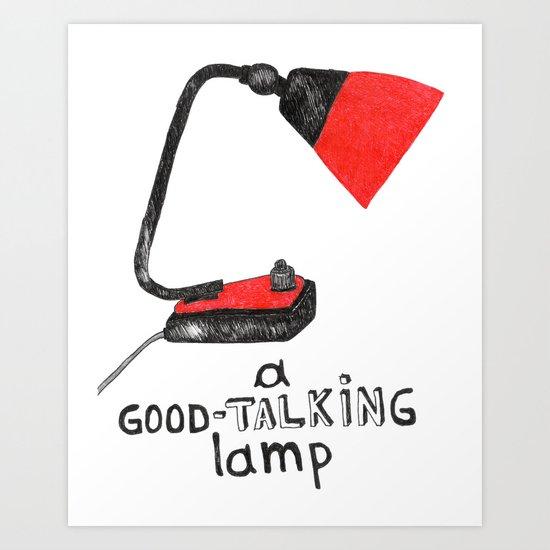 A Good-Talking Lamp Art Print
