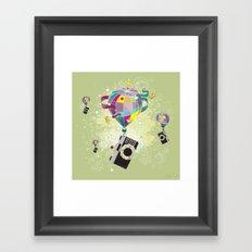 Traveling camera Framed Art Print